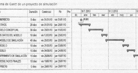 FASES DE UN PROYECTO DE SIMULACIÓN